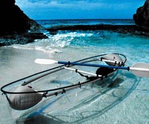 sea, beach, and boat image