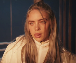 billie eilish, blue, and clean image