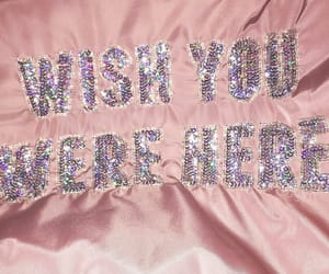 pink, quotes, and sparkles image