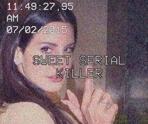 lana del rey, grunge, and serial killer image