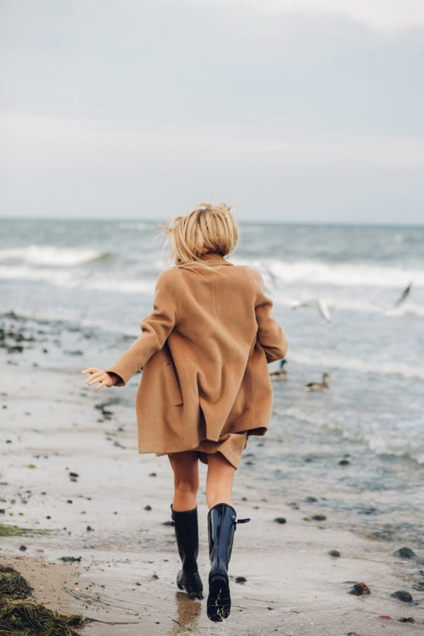 sea, girl, and beach image