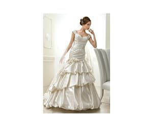 gown, store, and wedding image