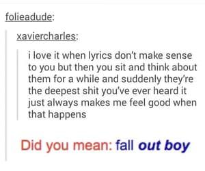 fall out boy, FOB, and Lyrics image