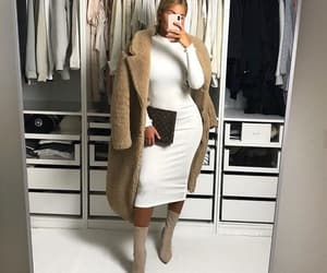 boots, coat, and dress image