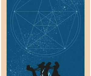 blue, pagan, and star image