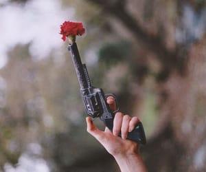 flower and gun image