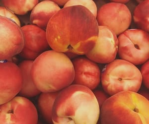 fruta, peach, and red image