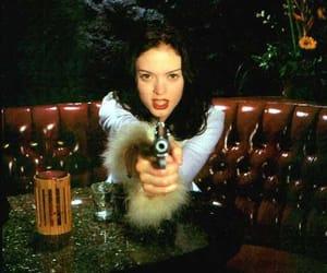 girl, gun, and Rose McGowan image