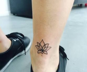 tattoo, flower, and lotus image