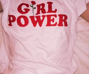 pink, girl, and girl power image