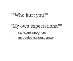 quotes, expectations, and hurt image