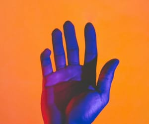 orange, aesthetic, and hand image
