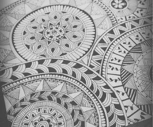 drawing, mandala, and march image