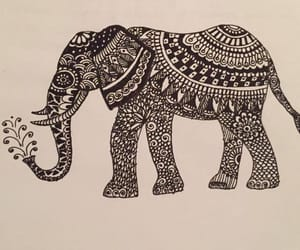 2016, drawing, and elephant image