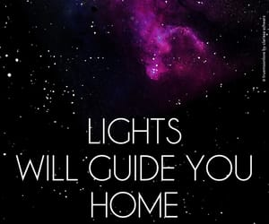 coldplay, lights, and lyric image