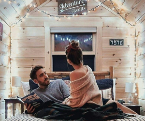 couple, love, and lights image