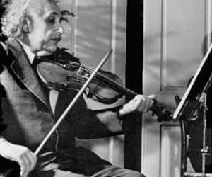 black and white, einstein, and violin image
