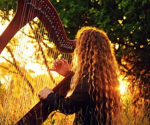 ginger, music, and harp image