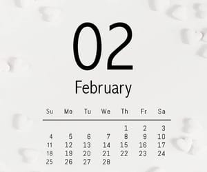 calendar, february, and hello image