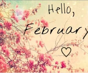 february and hello image