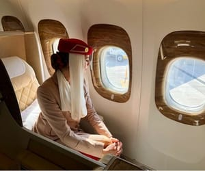 emirates, fly, and girl image
