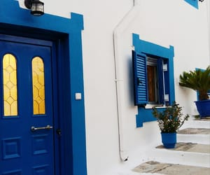 blue, Greece, and photo image
