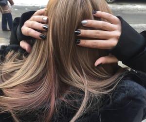 black, hair, and nails image