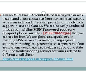 msn help desk hotmail and msn outlook. image