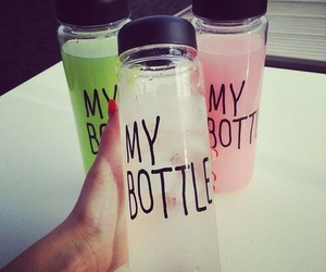 water, my bottle, and drink image