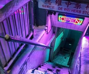 aesthetic, purple, and neon image