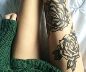 tattoo, legs, and thin image