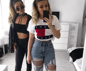 fashion, best friends, and girls image