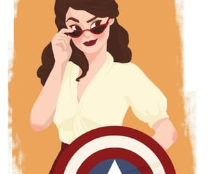 peggy carter, art, and Marvel image