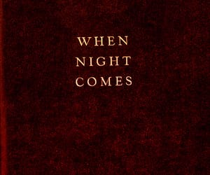 book, night, and red image