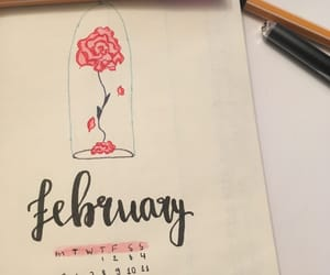 beauty and the beast, handlettering, and lettering image