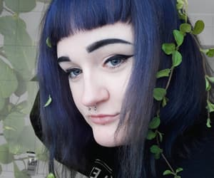 aesthetic, goth, and hair image
