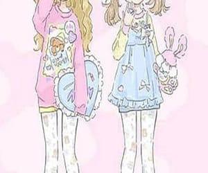anime, cartoon, and little girls image