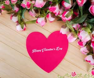 heart, happy valentine, and pink image