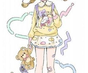 anime, cartoon, and little girl image