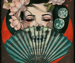art, tattoo, and geisha image