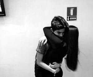 hug, boy, and girl image