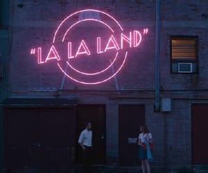la la land, movie, and neon image