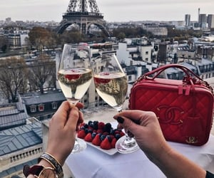 paris, travel, and champagne image