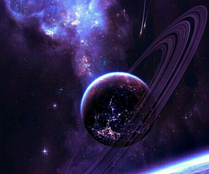 galaxy, planet, and purple image