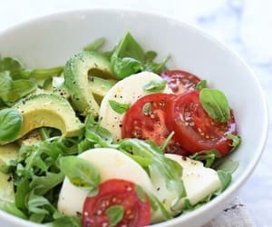 salad, food, and avocado image