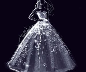dress, art, and black and white image