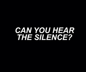 black, silence, and bmth image