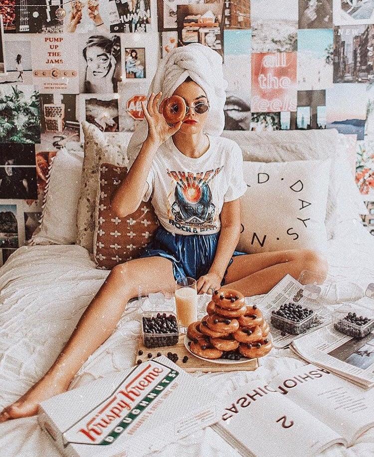 doughnuts, girl, and inspiration image