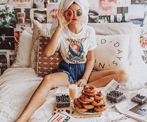 doughnuts, girl, and inspiration image