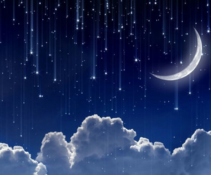 stars, clouds, and moon image
